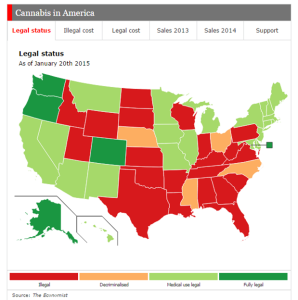 Marijuana law map