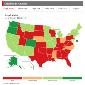 Marijuana law map